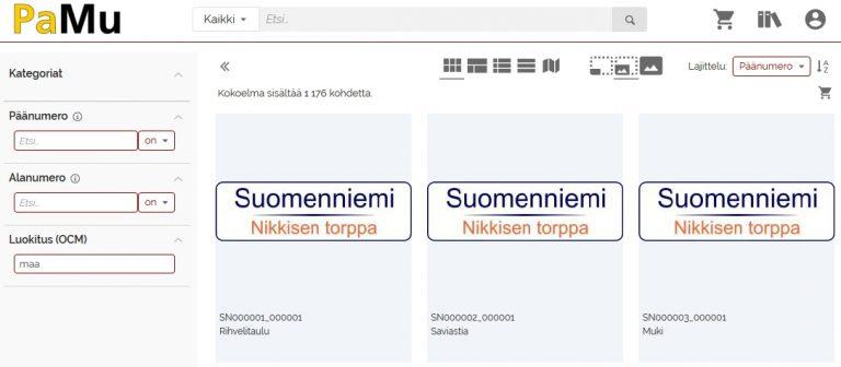 Ruudunkaappauskuva Etelä-Savon paikallismuseoiden tietokannan Suomenniemen kotiseutumuseon esinetiedoista.