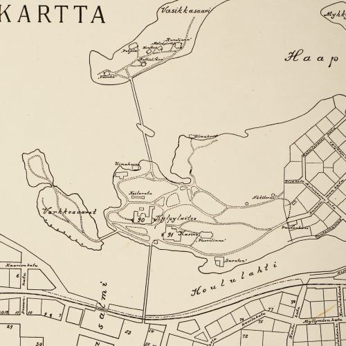 Kylpylä- ja huvila-alueeseen kuuluivat osa Vääräsaarta, Verkkosaari ja Vasikka- eli Sulosaari.